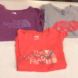 Women's The North Face graphic t-shirts.